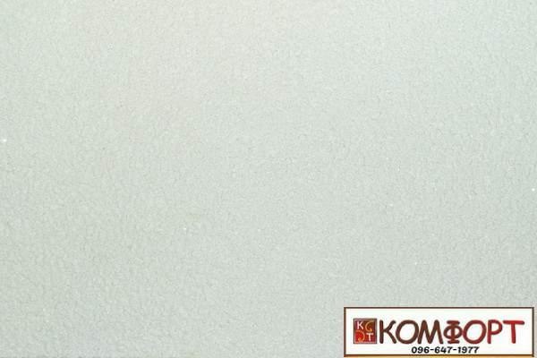 Образец жидких обоев Экобарвы серии Лайт белого цвета
