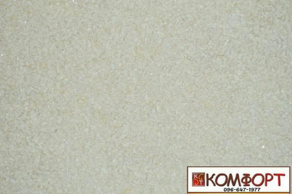 Образец жидких обоев Экобарвы серии Лайт бежевого цвета