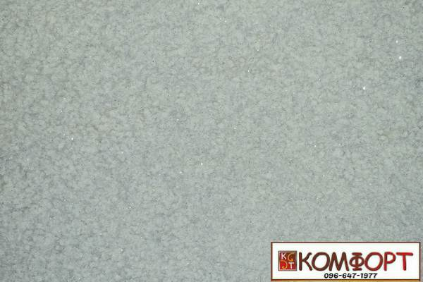 Образец жидких обоев Экобарвы серии Лайт с текстильным волокном светло-серого цвета