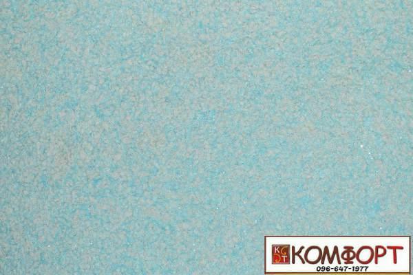 Образец жидких обоев Экобарвы серии Лайт с текстильным волокном бирюзового цвета