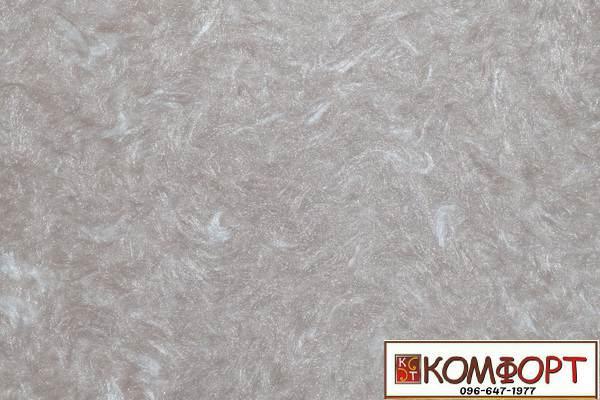 Образец жидких обоев Экобарвы серии Софт перламутрового серого цвета