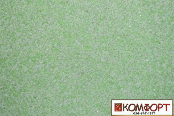 Образец жидких обоев Экобарвы серии Лайт с текстильным волокном зеленого (морская волна) цвета