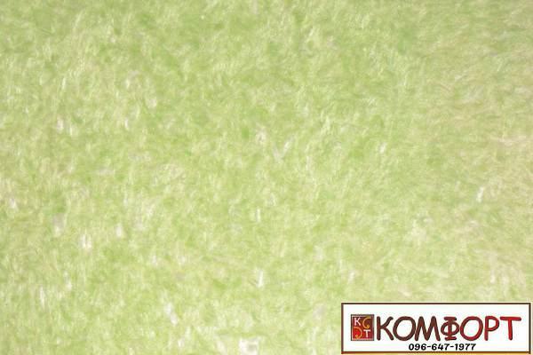 Образец жидких обоев Экобарвы серии Софт фисташкового цвета