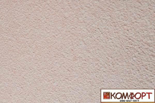 Образец жидких обоев Экобарвы серии Акрил белого цвета с добавлением акриловой нити персикового цвета