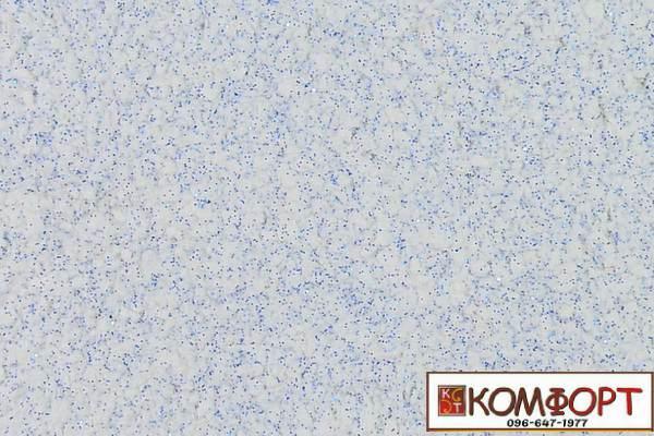 Образец жидких обоев Экобарвы серии Блеск белого цвета с добавлением двух порций синего блеска