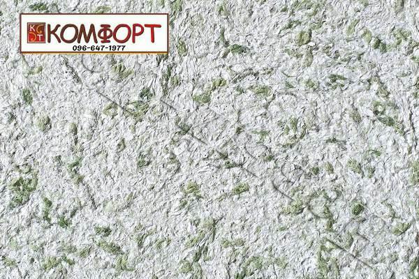 Образец жидких обоев Новый Тон сиреневого цвета с крупным оливковым, серым вкраплением