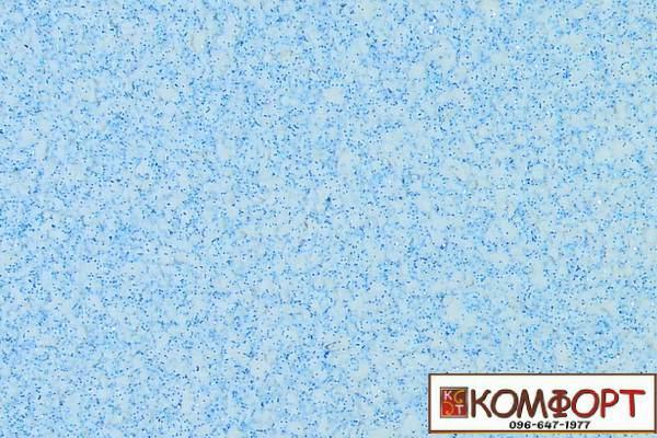 Образец жидких обоев Экобарвы серии Блеск белого цвета с добавлением трех порций голубого блеска