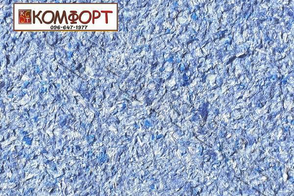 Образец жидких обоев Новый Тон сине-голубого цвета