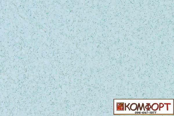 Образец жидких обоев Экобарвы серии Блеск белого цвета с добавлением одной порции зеленого блеска