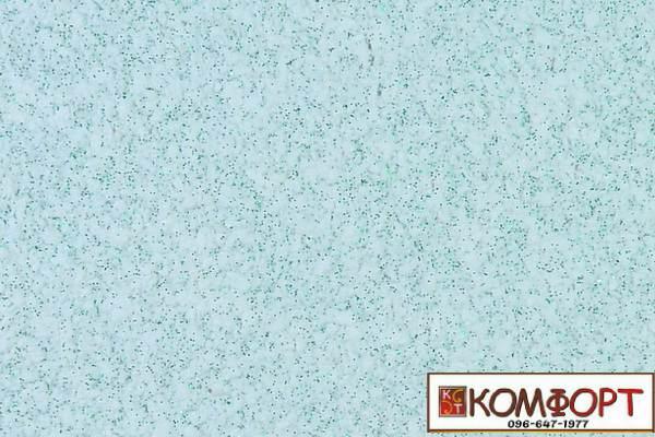 Образец жидких обоев Экобарвы серии Блеск белого цвета с добавлением двух порций зеленого блеска