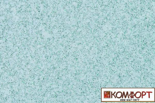 Образец жидких обоев Экобарвы серии Блеск белого цвета с добавлением трех порций зеленого блеска