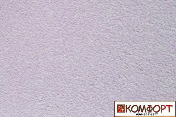Образец жидких обоев Экобарвы серии Акрил белого цвета с добавлением акриловой нити фиолетового цвета