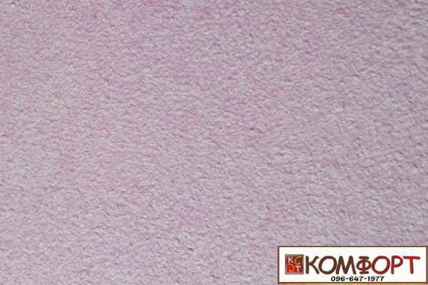 Образец жидких обоев Экобарвы серии Акрил белого цвета с добавлением акриловой нити сиреневого цвета