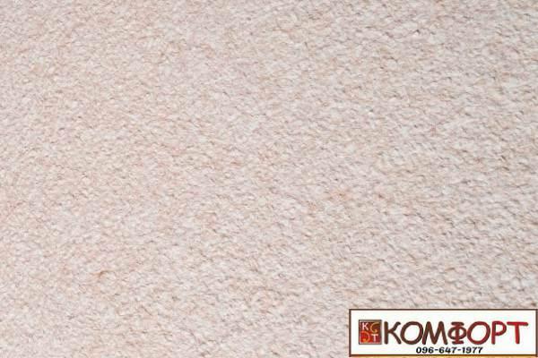 Образец жидких обоев Экобарвы серии Акрил белого цвета с добавлением акриловой нити темно-бежевого цвета