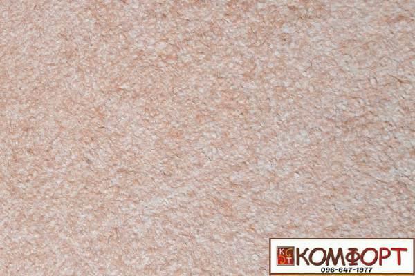 Образец жидких обоев Экобарвы серии Акрил белого цвета с насыщенным добавлением акриловой нити темно-бежевого цвета