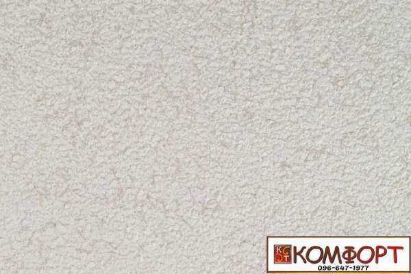 Образец жидких обоев Экобарвы серии Коттон белого цвета с добавлением темно-бежевой нити
