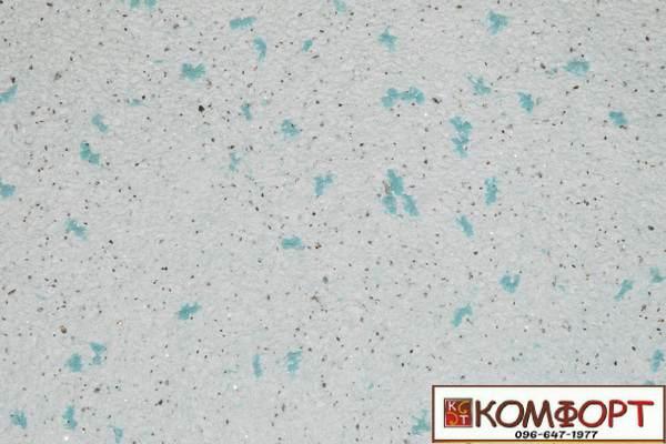 Образец жидких обоев Экобарвы серии Лайт Плюс аквамаринового цвета