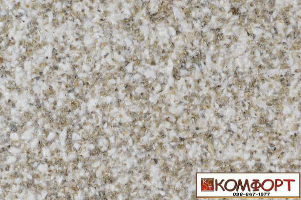 Образец жидких обоев Экобарвы серии Мика бежевого цвета с мелкой глазурью