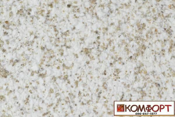 Образец жидких обоев Экобарвы серии Мика бежевого цвета матовые