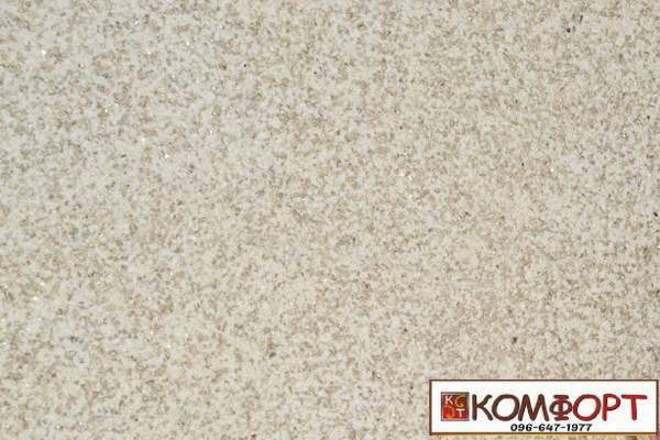 Образец жидких обоев Экобарвы серии Мика бежевого цвета без вкраплений и блесток