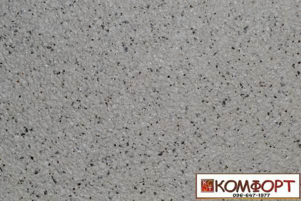 Образец жидких обоев Экобарвы серии Мика темно-бежевого цвета с мелкой глазурью