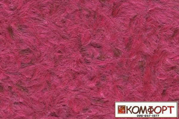 Образец жидких обоев Стиль малинового цвета с добавлением окрашенного волокна в коричневый цвет
