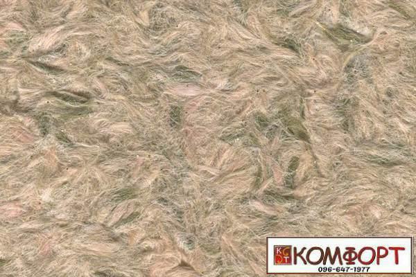 Образец жидких обоев Стиль бежевого цвета с добавлением окрашенного волокна в оливковый цвет