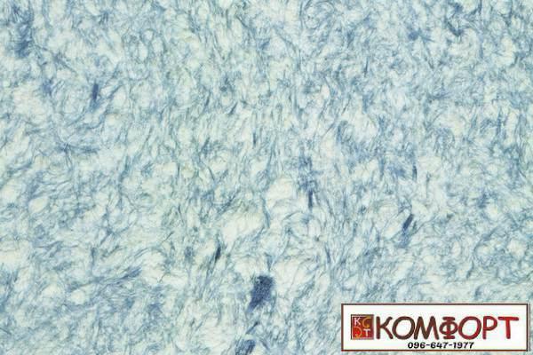 Образец жидких обоев Стиль белого цвета с добавлением окрашенного волокна в серый цвет