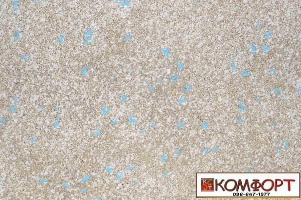 Образец жидких обоев Экобарвы серии Мика голубого (морозное небо) цвета