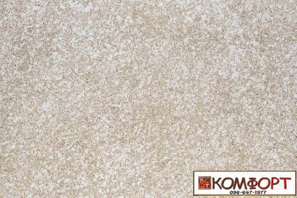 Образец жидких обоев Экобарвы серии Мика золотисто-бежевого цвета с мелкой глазурью