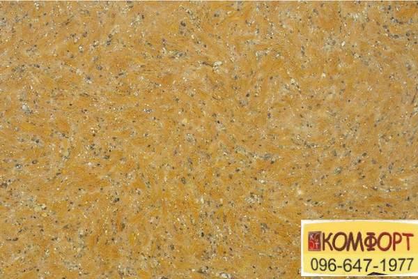 Образец жидких обоев Limil Каталог 3 с крашенными волокнами в темно-оранжевый цвет с серым вкраплением