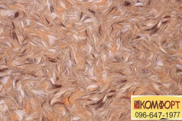 Образец жидких обоев Limil Каталог 3 с крашенными волокнами в горчичный, коричневый, светло-коричневый цвет