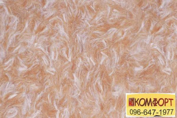 Образец жидких обоев Limil Каталог 4 с крашенным волокном светло-коричневого цвета