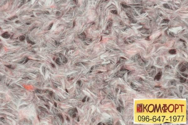 Образец жидких обоев Limil Каталог 4 с крашенным волокном персикового, черного цвета