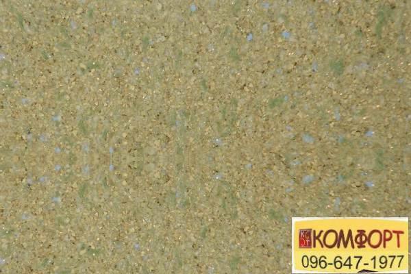 Образец жидких обоев Limil Каталог 5 золотистого цвета с зеленым, голубым вкраплением, декором