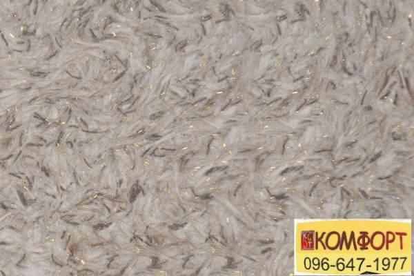 Образец жидких обоев Limil Каталог 5 светло-серого цвета, резанной черной нитью декором